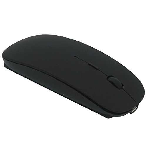 Tsmine Bluetooth Mouse Rechargeable Wireless Mouse, 5 Buttons for Notebook, PC, Laptop, Computer, Macbook 2017(NOT for iPhone or iPad) - Black