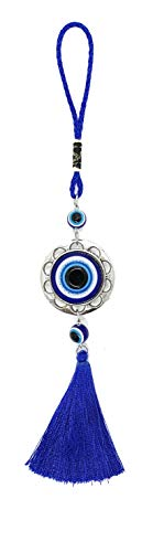 (Bravo Team Lucky Evil Eye Hanging Ornament for Protection and Blessing, Strength and Power, Pendant Decoration for Car, Home and Office, Great Gift)