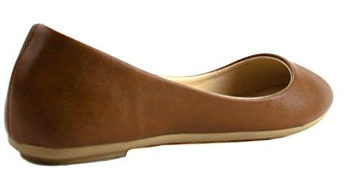 Bamboe Schoenen Dames Standouts-30a Nub / Crp Slip Op Ballet Flats Kastanje