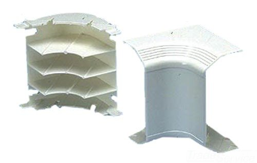 Panduit T70ICIW Power Rated Raceway Inside Corner Fitting, Off White