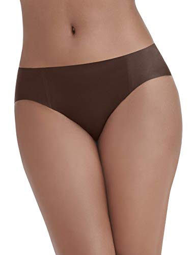 Vanity Fair Women's Underwear Nearly Invisible Panty, Cappuccino, Medium/6 (Brown Lingerie)