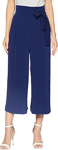 Anne Klein Women's Belted Cropped Trouser, Eclipse, (Womens Cropped Trousers)