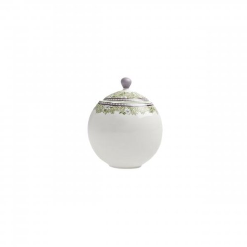 Monsoon Daisy 10.5 Oz. Covered Sugar Bowl with Lid Denby Porcelain Sugar Bowl