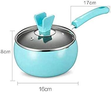 CJTMY Mini Petit Pot Non-bâton instantané Pan Pot Noodle bébé supplément Alimentaire Lait poignée Simple Petit Pot