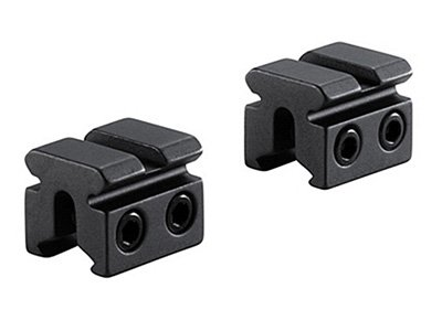 - BKL 2-Pc 3/8 or 11mm Dovetail to Weaver Adapter, 1 Long, Matte Black