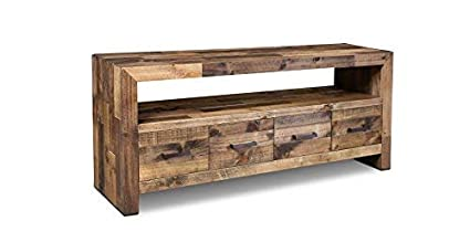 Amazon Com Crafters And Weavers Rustic Style Fulton Tv Stand