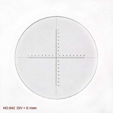 Diameter 19mm Optical Microscope Eyepiece Micrometer Ocular Calibration Slide for Biological Metallogical Microscope Eyepiece Color:NO.944 Mercury/_Group