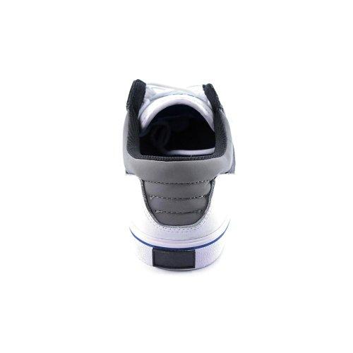 SUPRA Shoes GRIFFIN white grey blue cristal, white leather Blanco - blanco