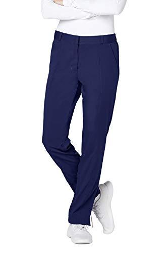 (Adar Pro Scrubs for Women - Tailored Flat Front Scrub Trousers - P7100 - Rich Navy - L)