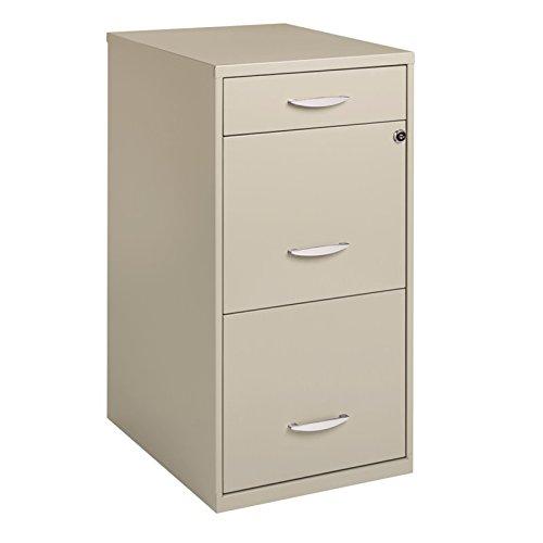 hirsh file cabinet 3 drawer steel - 7