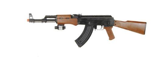 bbtac p1147 ak47 airsoft gun w/ tactical red dot light airsoft spring rifle, with bbtac warranty(Airsoft Gun)