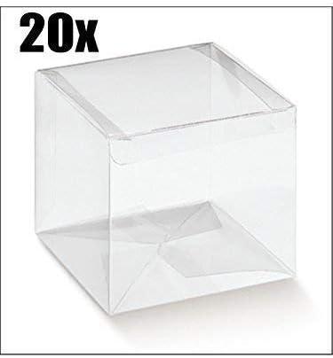 20 PIEZAS Caja haga clic en detalle PVC transparente 15x15x15 cm: Amazon.es: Hogar