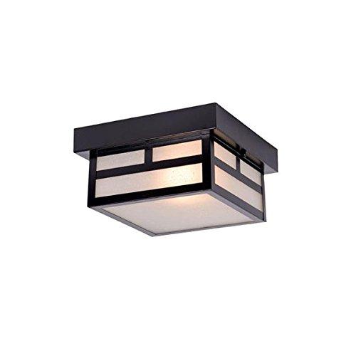 Fixtures Outdoor Collection Lighting (Acclaim 4708BK Artisan Collection 1-Light Ceiling Mount Outdoor Light Fixture, Matte Black)