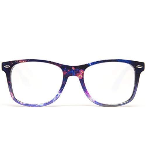 GloFX Galaxy Print Diffraction Glasses - Rave Grating Prism Effect Stars Universe Space Rainbow