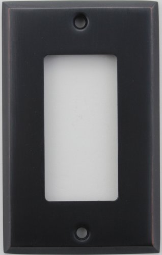 Classic Accents Stamped Steel Oil Rubbed Bronze One Gang GFI/Rocker Opening Wall Plate ()