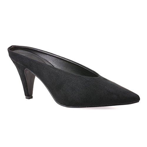 Zapatos Negro La Vestir 46164 Modeuse De Sintético Mujer OFpwTB4qp