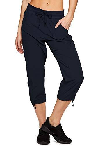 - RBX Active Women's Cargo Lightweight Woven Capri Pant S19 Navy XL