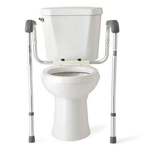 Vive Toilet Seat Riser With Handles Raised Toilet Seat With Padded Arms For