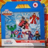 Marvel Super Hero Adventures, Exclusive Figures, Ultimate Super Hero Set [Hulk, Thor, Iron Man, Captain America, Hawkeye, and Black Widow], 6-Pack