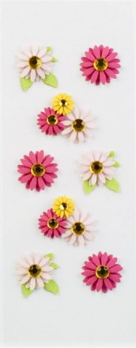 Little B 100133 Dimensional Stickers, Mini, Gerber Daisies