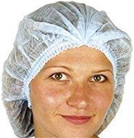 Woven Net (Huini 200pcs Disposable Non-woven Hair Net Cap Mob Elastic Free Size Blue (100pcs/bag*2))