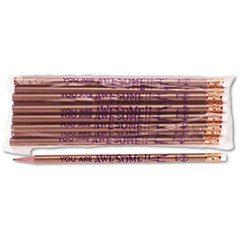 - - Decorated Wood Pencil, You Are Awesome, HB #2, Gold Barrel, Dozen