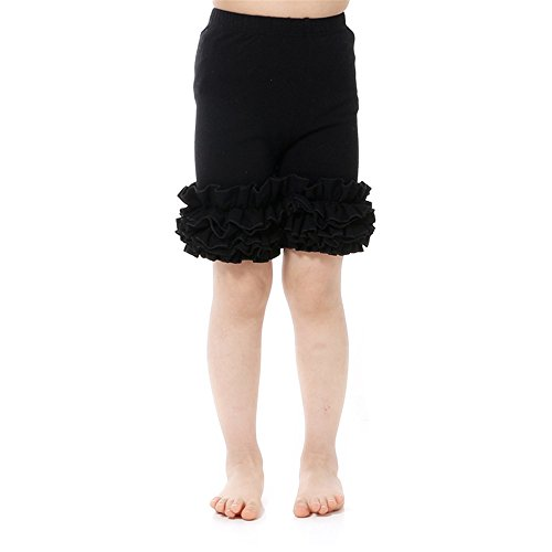 Kaiya Angel Little Girl's Ruffle Shorts Solid Cotton Icing Ruffled 2/1 (Ruffle Shorts For Girls)