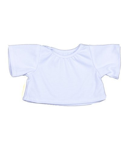 """LOT OF 12 White T-Shirt Outfit Teddy Bear Clothes Fits Most 14"""" - 18"""" Build-a-bear, Vermont Teddy Bears, and Make Your Own Stuffed Animals from BEARegards Comfort Bears"""