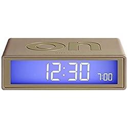 Alarm clock from LEXON Flip pink gold by Lexon