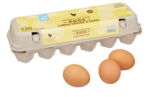 Amazon Brand - Happy Belly Cage-Free, Large, Brown Eggs, 1 Dozen