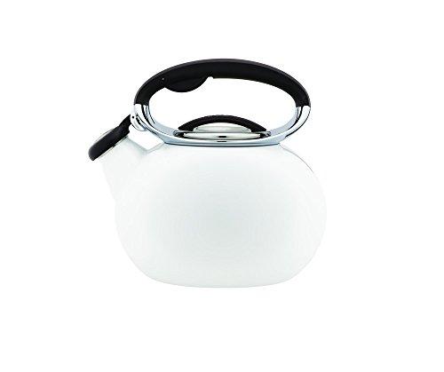 Copco 5197720 Ellipse Enamle On Steel Tea Kettle 2-Quart White