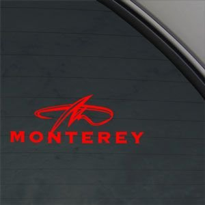 Monterey Red Sticker Decal Monterey Boat Red Car Window Wall - Decals for boats uk