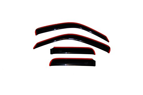 - Auto Ventshade 194428 In-Channel Ventvisor Side Window Deflector, 4-Piece Set for 2002-2007 Jeep Liberty