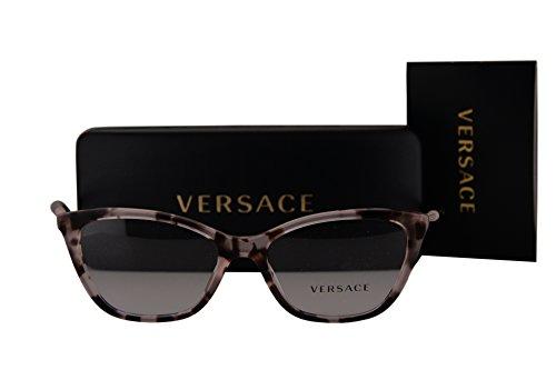 Versace Pink Lens - Versace VE3248 Eyeglasses 52-16-140 Pink Havana w/Demo Clear Lens 5253 VE 3248