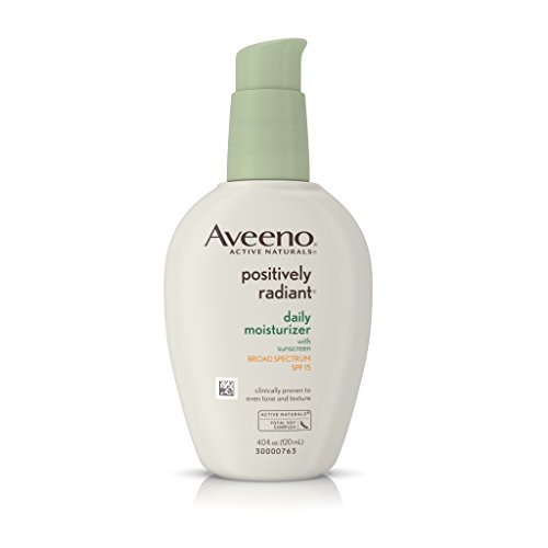 Aveeno Positively Radiant Daily Moisturizer with Broad Spectrum SPF 15, 4 Oz (Positively Radiant Moisturizer compare prices)