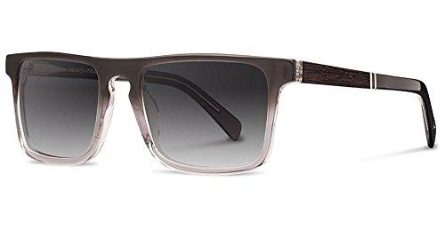 Fade Frame Polarized Grey Lens (Shwood Acetate Govy 2 Sunglasses - Fog/Ebony Frame with Grey Fade Polarized)