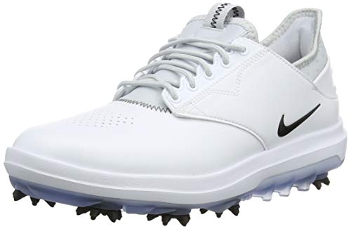 Nike Men's Golf Air Zoom Direct Shoes, White/Black-Metallic Silver, 11 M US (Zoom Victory Nike)