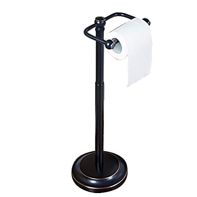 WYMNAME Free Standing Toilet Tissue Paper Holder,Kitchen Tissues Holder Roll Paper Tube Restroom Ground Stainless Steel Toilet Paper Shelf