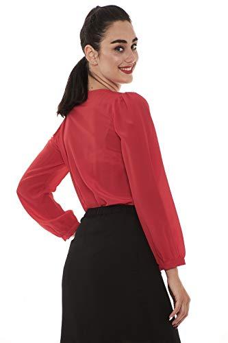 Cut Body Patrizia 8c0232 42 Con Donna Out Pepe A156 Red Camicia British Spalla 8rYEwraq