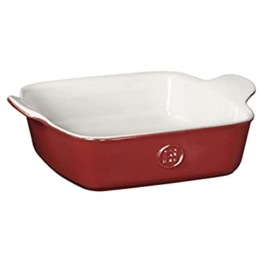 Emile Henry HR Modern Classics Square Baking Dish 8 x 8  / 2 Qt, Red
