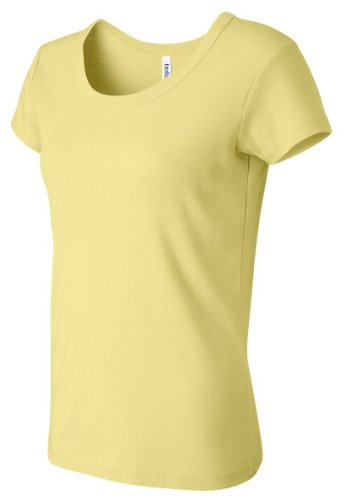 Bella 8780 Womens Sheer Mini Rib Tank - Yellow, Small