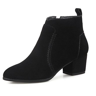 Chunky Gray Combat Black Booties Boots Nubuck Shoes Boots Camel CN36 US6 EU36 Fall Boots For Casual Winter Leather Ankle Women'S Heel RTRY Fashion Boots UK4 8HfxwqPnR