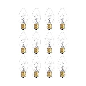 12 Pack 25 Watt Bulbs for Scentsy Plug-In Nightlight Wax Warmers, Home Fragrance Wax Diffusers & Salt Lamps, 120 Volt Bulk Bulb Replacements