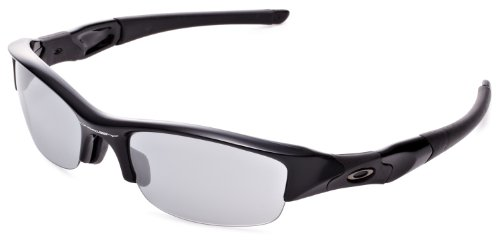 (Oakley Men's Flak Jacket Non-Polarized Iridium Rectangular, Jet Black, 63 mm )