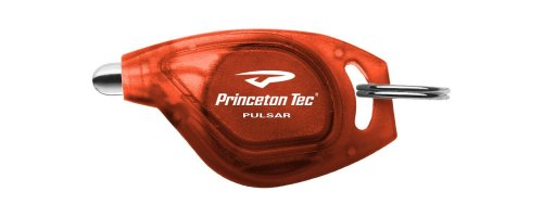 Princeton Tec Pulsar White LED Key Chain Light (Red (Tec Translucent Flashlight)