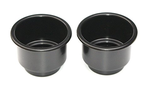 JSP Manufacturing 3 5/8 Black Jumbo Cup Boat RV Car Truck Poker Pool Table Sofa Inserts Large Size (2)