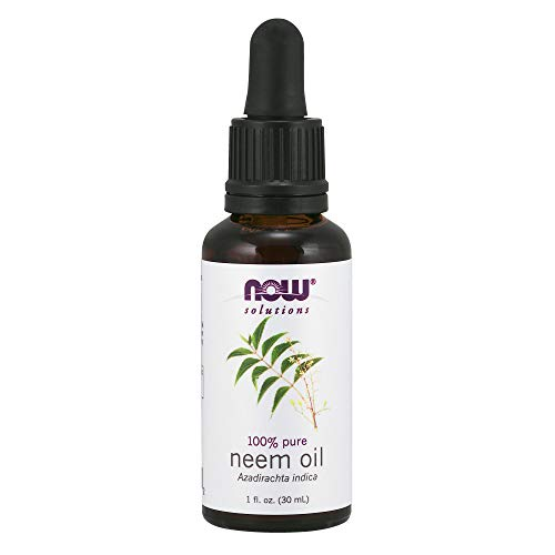 Now Solutions, Neem Oil, 100% Pure, Made from Azadirachta Indica (Neem) Seed Oil, Natural Relief from Irritation and Other Skin Issues, 1-Ounce ()