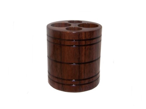 Vapor Stands Trek-E V2 - Solid Walnut - Electronic Cigarette Holder For Your Car