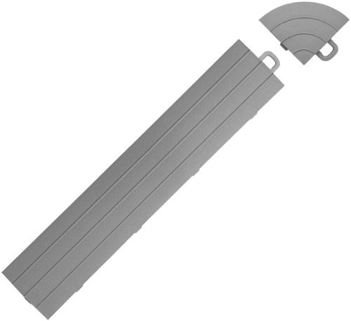 BlockTile R0US4612 Interlocking Ramp Edges Without Loop, Gray, 14-Pack, Model: R0US4612, Outdoor & Hardware Store