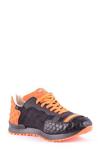 L4k3 Sneakers Uomo In Pelle Scamosciata Arancione / Nera Mbi473004o